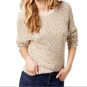 Free People Knit Crew Cream Sweater Size XS